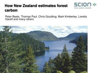 How New Zealand estimates forest carbon