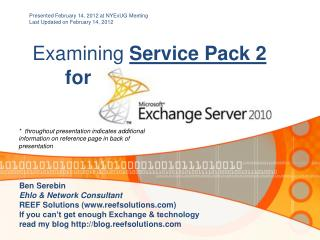 Examining  Service Pack 2 for