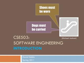 CSE503: Software Engineering Introduction