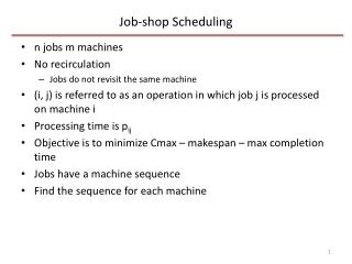 Job-shop Scheduling