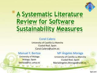 A Systematic Literature Review for Software Sustainability Measures