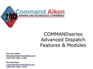 COMMANDseries Advanced Dispatch Features & Modules