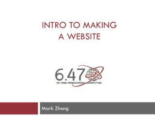 Intro to Making a Website