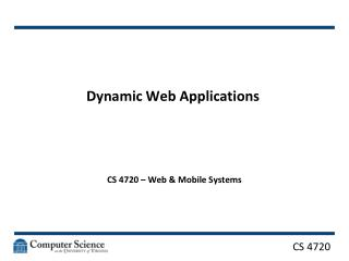 Dynamic Web Applications