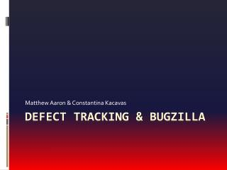 Defect Tracking & Bugzilla