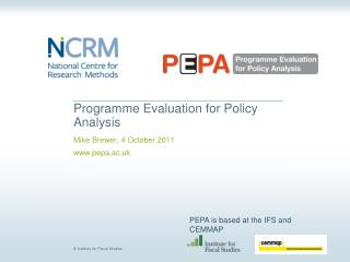 Programme Evaluation for Policy Analysis