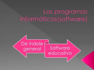 Los  programas informáticos (software)