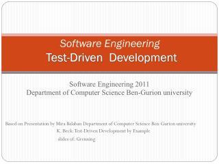 Software Engineering Test-Driven   Development