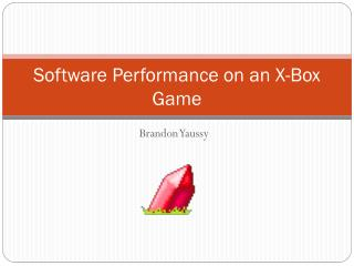 Software Performance on an X-Box Game