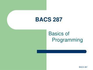 BACS 287