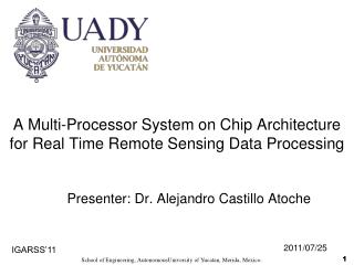 A Multi-Processor System on Chip Architecture for Real Time Remote Sensing Data Processing