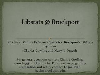 Libstats  @ Brockport