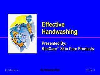 effective handwashing