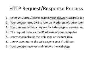 HTTP Request /Response  Process