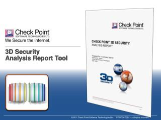 3D Security  Analysis Report Tool