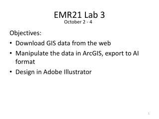 EMR21 Lab 3