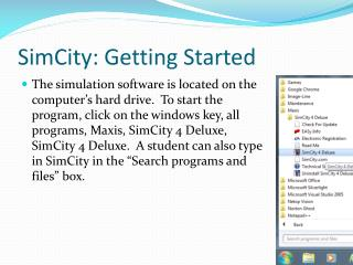 SimCity: Getting Started