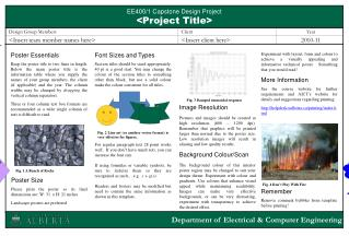 EE400/1 Capstone Design Project <Project Title>