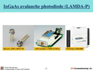 InGaAs avalanche photodiode (LAMDA-P)