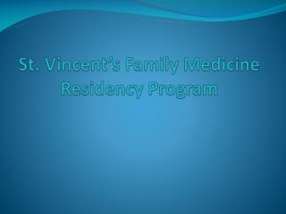 St. Vincent's Family Medicine Residency Program