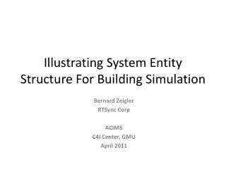 Illustrating System Entity Structure For Building Simulation