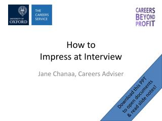 How to  Impress at Interview
