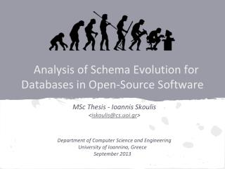Analysis of Schema Evolution for Databases in Open-Source Software