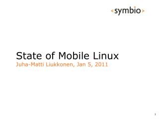 State of Mobile Linux
