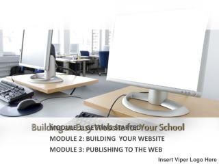 Building an Easy Website for Your School