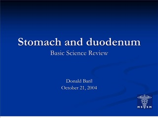 stomach and duodenum basic science review