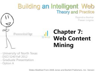 Chapter 7: Web Content Mining