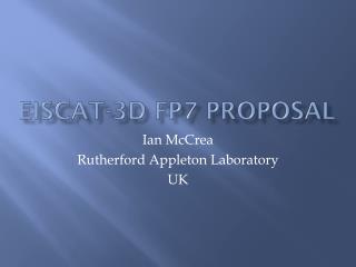 EISCAT-3D FP7 Proposal