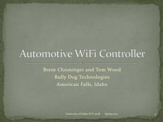 Automotive  WiFi  Controller