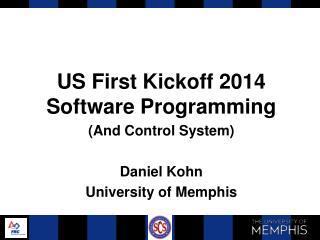 US First Kickoff 2014 Software Programming