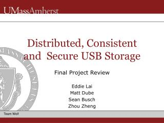 Distributed, Consistent and  Secure USB Storage