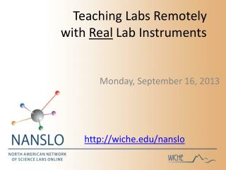 Teaching Labs Remotely with  Real  Lab Instruments