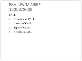 EKA JUWITA ARIEF 12253/2009