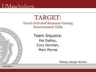 TARGET: Touch-Activated Response Gaming Entertainment Table