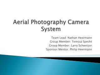 Aerial Photography Camera System