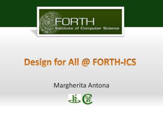 Design for All @ FORTH-ICS