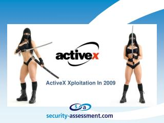 ActiveX  Xploitation  In 2009