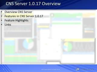CNS Server 1.0.17 Overview