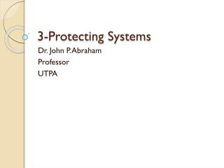 3-Protecting Systems