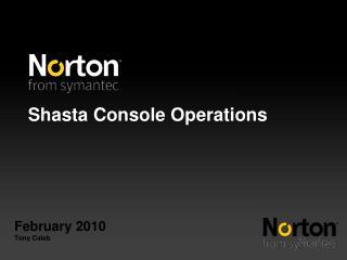 Shasta Console Operations