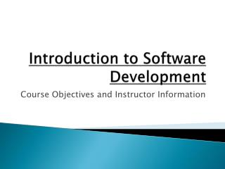 Introduction to Software Development