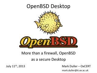 OpenBSD  Desktop