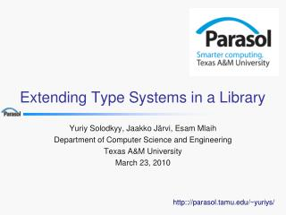 Extending Type Systems in a Library