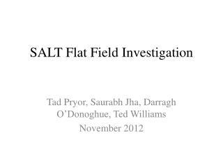 SALT Flat Field Investigation