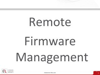 Remote Firmware Management