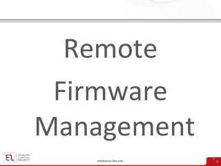 Remote Firmware Management